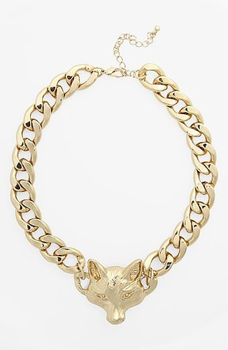 Kool Konnections Fox Chain Necklace Gold