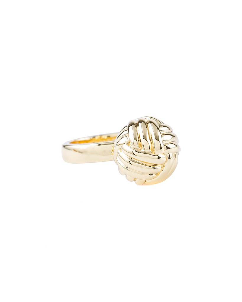 That classic nautical motif, the sailor's knot, gets fancied up in gold.