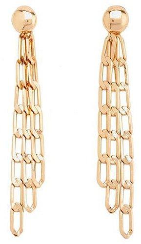 Triple Chain Link Earrings