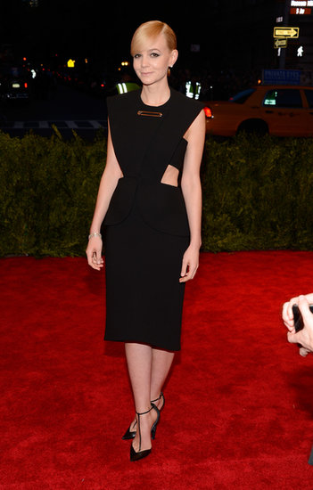 If you recall, Carey Mulligan chose a cutout LBD from Alexander Wang's debut collection for Balenciaga for the 2013 Met Gala in NYC. The safety pin design totally fit the night's theme — Punk: Chaos to Couture.