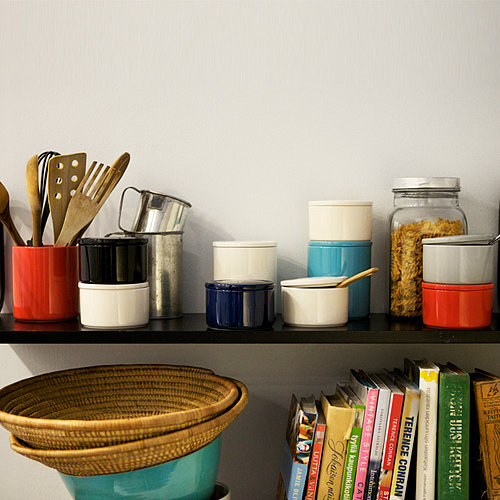 Sturdy ceramic jars (from $17.50) in bright hues will speak to fans of mid century modern style.