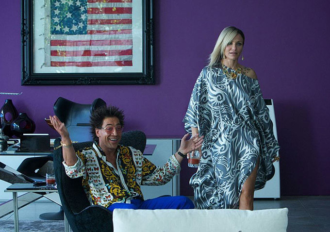 Javier Bardem and Cameron Diaz in The Counselor.