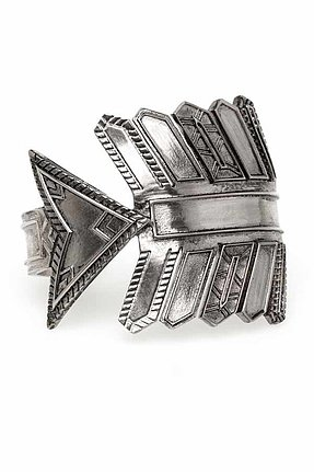 House of Harlow 1960 Antiqued Arrow Cuff in Silver
