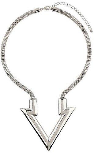 Topshop Arrow Pendant Necklace Silver