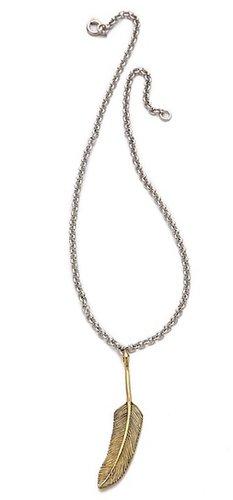 Sunahara malibu Feather Pendant Necklace