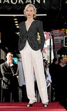 For her Hollywood Walk of Fame honor, Cate ditched the gowns for something menswear inspired in an Armani Privé ensemble, which included a striped jacket and white trousers.