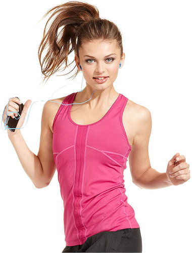 Colosseum Top, Sleeveless Racerback Cinched-Front Tank