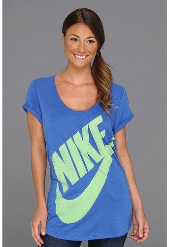 Nike - Exploded Futura BF S/S Tee (Prize Blue/Dark Grey Heather/Flash Lime) - Apparel