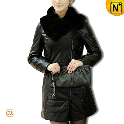 Women Long Leather Down Coat CW610007 - cwmalls.com