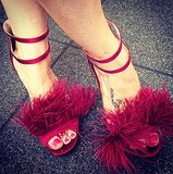 It isn't a party without a fabulously feathered pair of party shoes, right?