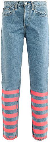 Lulu & Co Vintage Levis 501 mid-rise straight-leg jeans