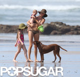 Gisele Bündchen showed off her bikini body during a beach day in Costa Rica with baby Vivian.