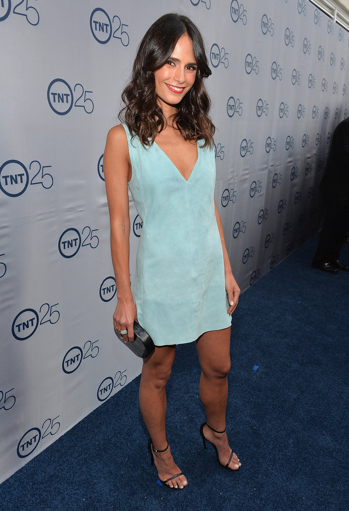 Jordana Brewster had legs for days in this pastel mini, which she paired with a Lauren Merkin clutch and strappy heels at the 25th anniversary celebration for TNT.