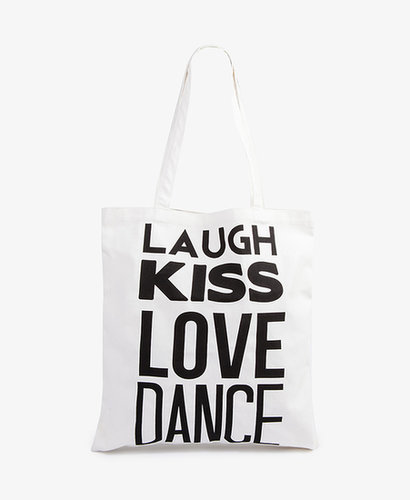 FOREVER 21 Laugh Kiss Love Dance Tote
