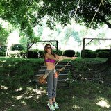 Sofia played on a swing. Source: Instagram user sofiavergara