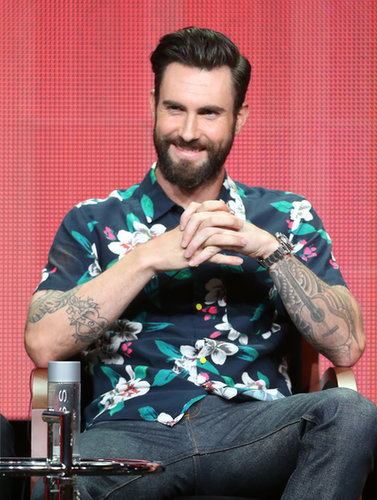 Adam Levine attended the panel for The Voice.