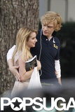 Evan Peters held on to Emma Roberts.