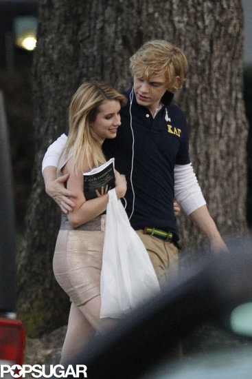 Emma Roberts and Evan Peters Show PDA Following Her Arrest
