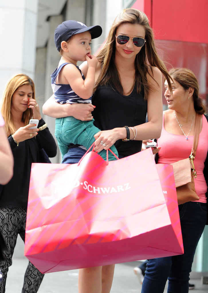 Miranda Kerr Balances Work and Play With Son Flynn