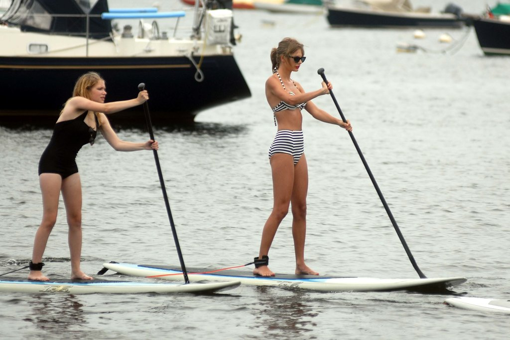 Bikini-Clad Taylor Swift Puts Her Paddle to the Test With Ed Sheeran