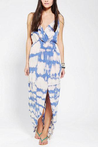 Blu Moon Tie-Dye Surplice Tulip Dress