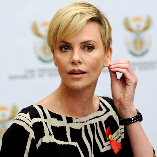 Charlize Theron in South Africa For AIDS Press Conference