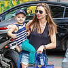 Miranda Kerr and Flynn Bloom and NYC Toy Shop FAO Schwarz