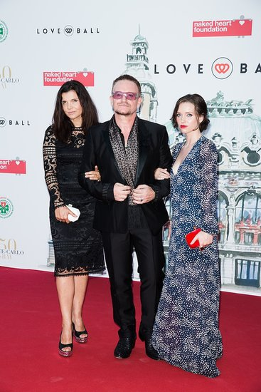 Bono accented his slim black design with a leopard-print scarf while attending the Love Ball with his wife, Ali Hewson, and daughter, Jordan Hewson.