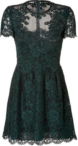 Valentino Lace Overlay Dress