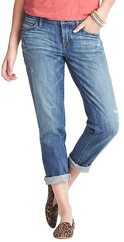 Petite Boyfriend Jeans in Lightest Blue Wash