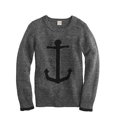 Boys' Cotton Anchor Sweater ($60)