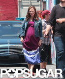 Jennifer Garner sported a fake baby bump on set.