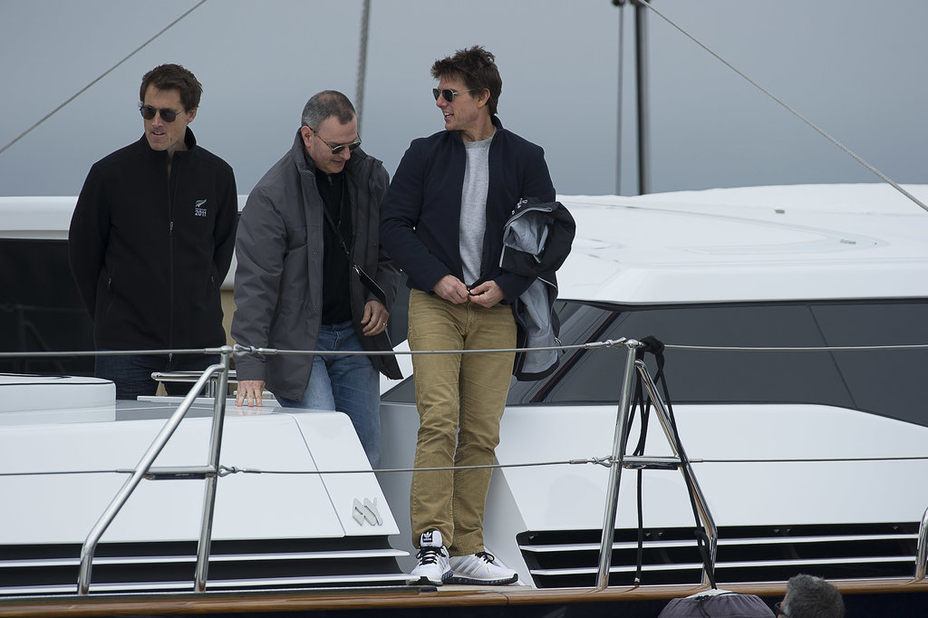 Tom Cruise prepared to embark on his sailing adventure. Source: Chris Cameron/Emirates Team New Zealand