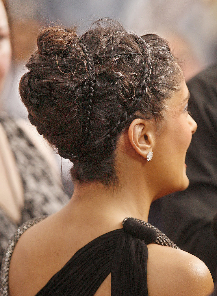 Braided headbands, even if they're not from your own head, are also cute, as Salma Hayek proved at the Grown Ups 2 US premiere.