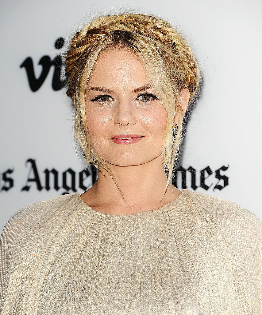 It was love at first sight when we saw this fishtail version of milkmaid braids on Jennifer Morrison.