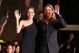 Brad Pitt and Angelina Jolie gave a wave.