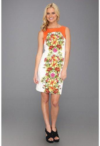 rsvp - Mindy Floral Dress (Orange/Fuchsia) - Apparel