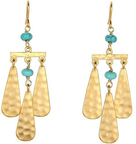 LAUREN Ralph Lauren - Small Teardrop And Multi Bead Chandelier Earrings (Gold/Multi) - Jewelry