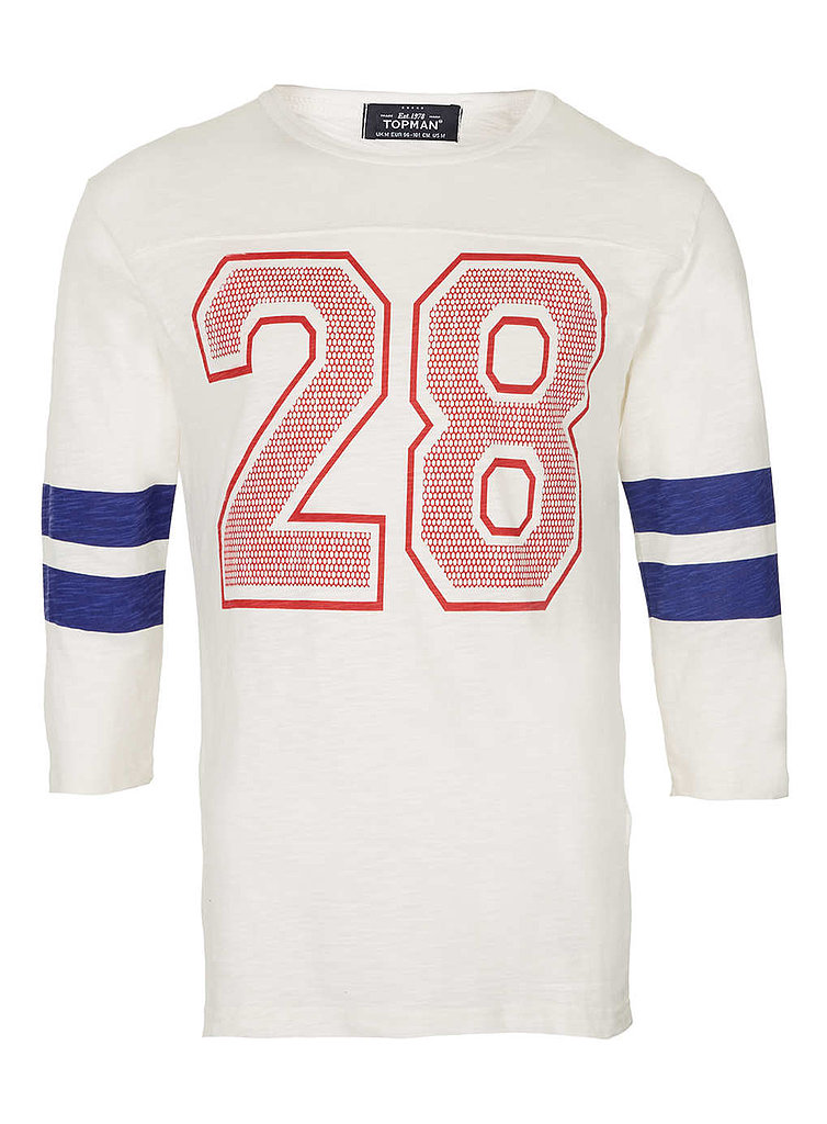 Steal from the guys (or at least the men's department) with this vintage-esque Topman jersey ($36).