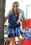 Jennifer Aniston continued filming her new project on July 30.