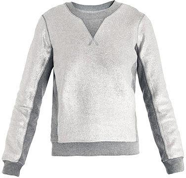 Marc by Marc Jacobs Metallic panelled sweatshirt