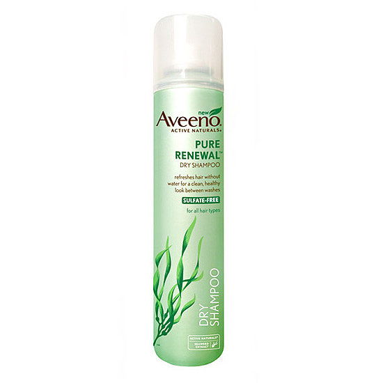 Aveeno Pure Renewal Dry Shampoo ($9) is a great sulfate-free way to gently cleanse your hair in between regular washes. Seaweed extract works to refresh your hair and scalp without the water.