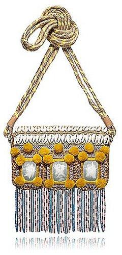 Tory Burch Robinson Mirrored Mini Bag