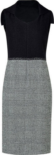 Jil Sander Grey and Black Combo Sheath Dress