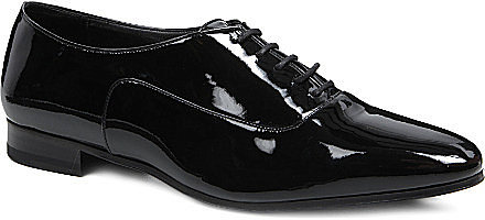 SAINT LAURENT Blake patent brogues