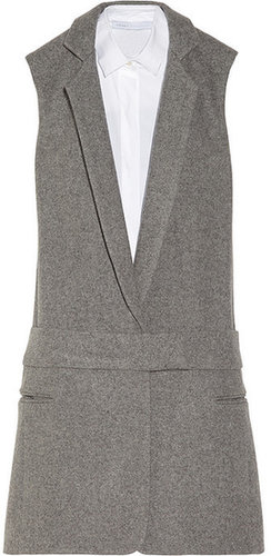 Victoria, Victoria Beckham Wool-felt tuxedo dress
