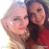 Nina Dobrev snapped a photo with Abigail Breslin at the Variety Power of Youth event. Source: Nina Dobrev on WhoSay
