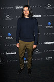 At the New York screening of Elysium, Olivier Theyskens mixed dark, autumnal hues.