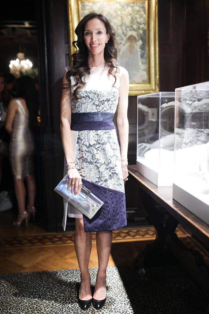 At the The National Arts Club, Olivia Chantecaille spent the evening with Forevermark in a lacy purple dress.