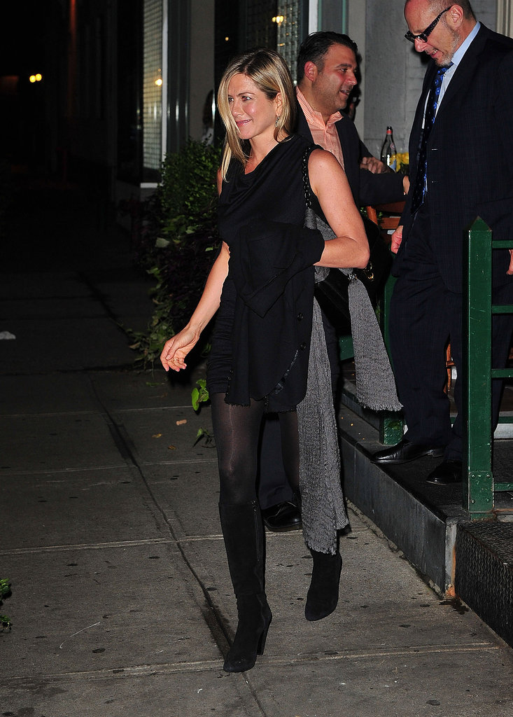 We love that Aniston swapped her sky-high pumps for black suede boots during an NYC outing in 2011.